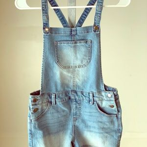 Cat and Jack 10X Denim Girls Shortalls